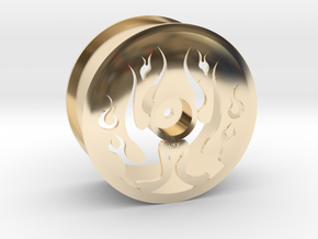 Flaming Dish By:NCC in 14K Yellow Gold