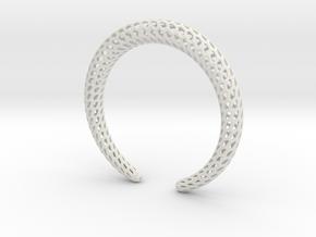DRAGON Strutura, Bracelet. in White Premium Versatile Plastic: Extra Small