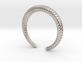 DRAGON Strutura, Bracelet. in Rhodium Plated Brass: Medium