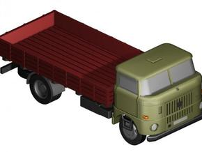 W50 Pritsche (lang) / Flat bed (long) (Z-1:220) in Smooth Fine Detail Plastic