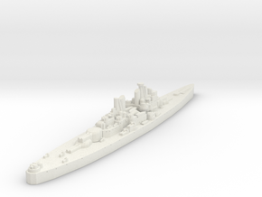 Vanguard Class Battleship (U.K.) Global War Scale in White Natural Versatile Plastic