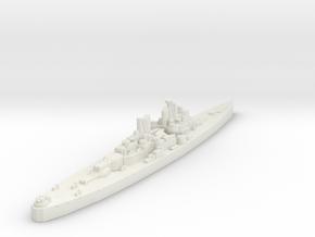 Vanguard Class Battleship (U.K.) Global War Scale in White Natural Versatile Plastic