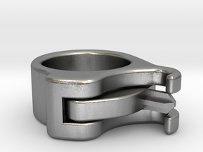 Uncapped Ring in Natural Silver (Interlocking Parts)