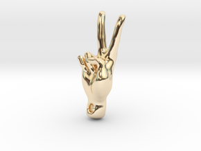 peace sign in 14K Yellow Gold