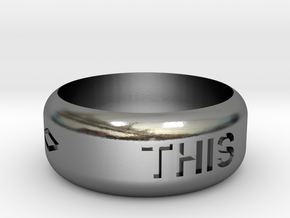 This Or That Ring in Polished Silver