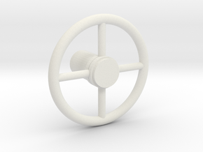 HUBLEY STEERING WHEEL in White Natural Versatile Plastic