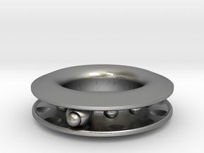S E E K. in Interlocking Raw Silver