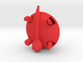 Squishy Turtle - Classic in Red Processed Versatile Plastic