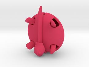 Squishy Turtle - Circle in Pink Processed Versatile Plastic