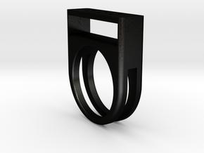 Pop Top Ring in Matte Black Steel