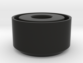 Archimedes End Cap in Black Natural Versatile Plastic
