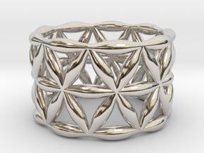 Flower of Life Ring in Platinum: 5.5 / 50.25