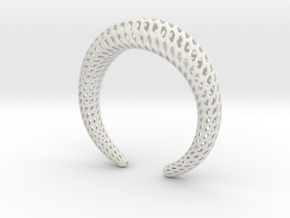 DRAGON Structura, Bracelet. Strong, Bold. in White Natural Versatile Plastic: Medium