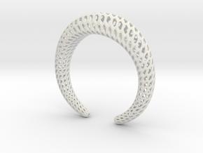 DRAGON Structura, Bracelet. Strong, Bold. in White Natural Versatile Plastic: Medium