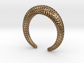 DRAGON Structura, Bracelet. Strong, Bold. in Natural Brass: Medium