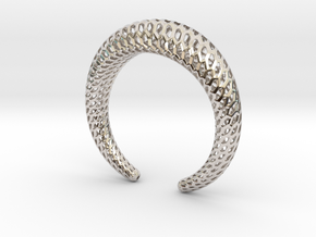 DRAGON Structura, Bracelet. Strong, Bold. in Rhodium Plated Brass: Medium