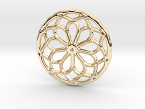 Mandala shape with dots in 14k Gold Plated Brass