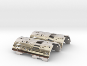 Graflex Mentor - Var1 Part07 - Plates - Style2 in Rhodium Plated Brass