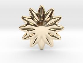 Flower shape for earrings or pendant in 14K Yellow Gold