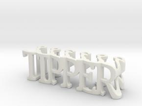 3dWordFlip: TIPPER/?????? in White Natural Versatile Plastic