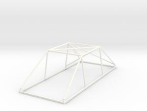 1 Jaula RallySlot 1:24 Cage in White Processed Versatile Plastic