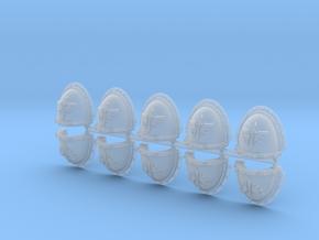 Dark Ángeles Shoulder Pads flat Mk3 x10 in Smooth Fine Detail Plastic