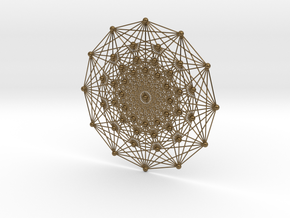 E7 (3_21 Polytope) Projected to 2D E6 Coxeter in Polished Bronze