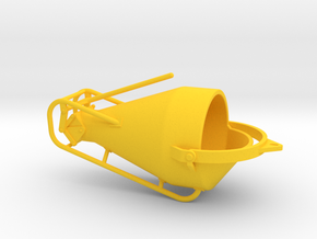 1:50 Concretebucket 750L  , Betonkubel 750L in Yellow Processed Versatile Plastic