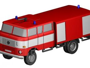 W50 Feuerwehr / Fire truck (Z-Scale 1/220) in Smooth Fine Detail Plastic