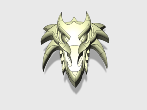 40x Dragon Skull : Shoulder Insignia pack in Smooth Fine Detail Plastic