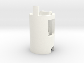 DM1 - Part 2/5 Chassis Bottom in White Processed Versatile Plastic
