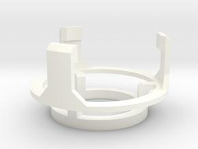 DM1 - Part 5/5 Speakerholdertop 24mm in White Processed Versatile Plastic