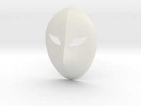 Vega Mask in White Natural Versatile Plastic