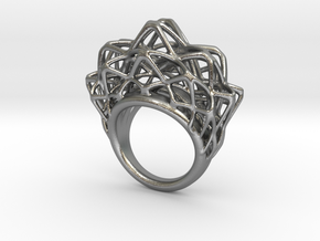 lace_ring_by_parametricart in Natural Silver