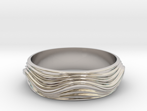 Ebb and Flow Ring No. 8  - Ripple, Size 7 in Platinum