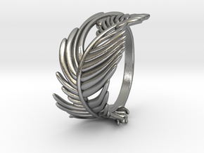 Feather Ring in Natural Silver: 5 / 49