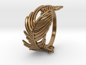 Feather Ring in Natural Brass: 5 / 49