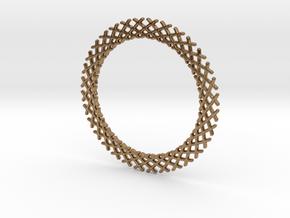 Mandala ring shape for pendants or earrings in Natural Brass