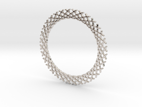Mandala ring shape for pendants or earrings in Platinum