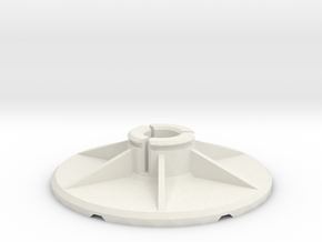 "1/4"" Adapter für Drehdimmer Rad in White Natural Versatile Plastic"
