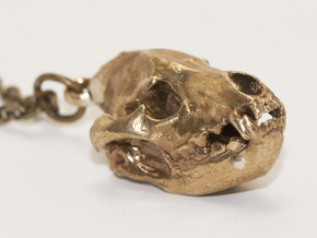 Hyena pendant in Natural Brass
