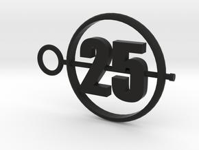 25_50mm in Black Premium Versatile Plastic
