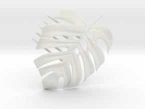 Monstera Comb in White Natural Versatile Plastic