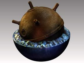 World War 2 Sea Mine in Full Color Sandstone