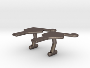 Nucleotide Cufflinks in Polished Bronzed Silver Steel