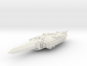 Last Exile. Standard Battleship of Ades Federation in White Natural Versatile Plastic