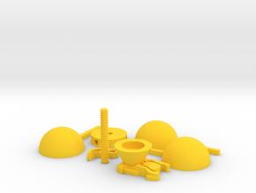 Edgy GoPro Anemometer in Yellow Processed Versatile Plastic