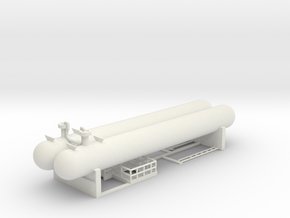 Propane Tanks Kit in White Natural Versatile Plastic