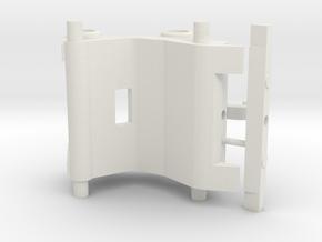 snelwissel 8mm 3D in White Natural Versatile Plastic