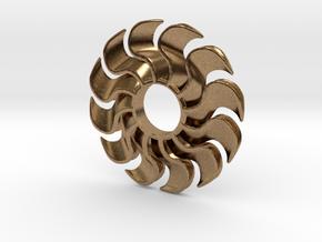 Fidget Turbofan in Natural Brass
